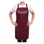 MANICURE APRON DARK RED